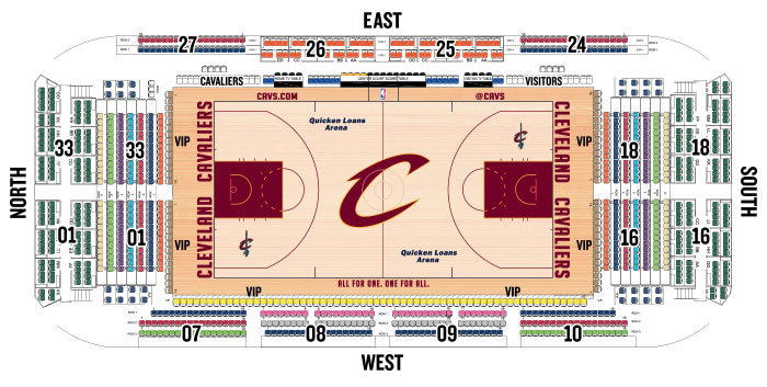 Cavaliers Floor Seating Chart
